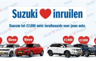 Suzuki loves inruilen bij auto Reef