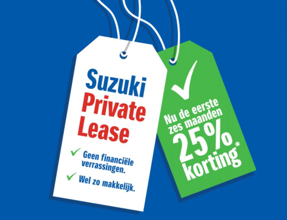 25% korting op Suzuki Private Lease
