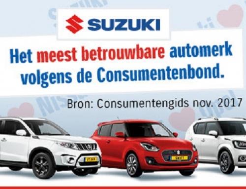 Suzuki betrouwbaarst volgens Consumentenbond