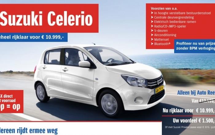 Suzuki Celerio voordeel alleen bij Auto Reef