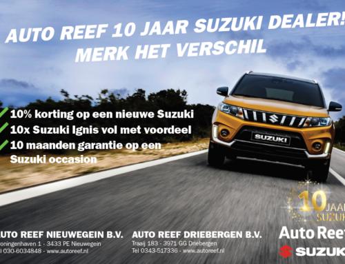 10 jarig Suzuki jubileum Auto Reef